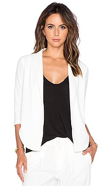 Bobi BLACK Textured Blazer in White