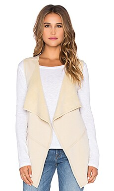 Bobi Bonded Faux Fur Vest in Tan