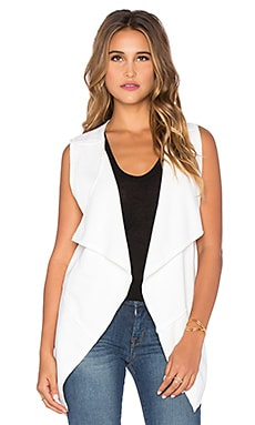 Bobi Bonded Faux Fur Vest in White