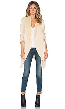 Bobi Bonded Faux Fur Blazer in Tan