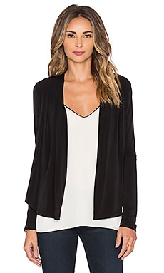 Bobi BLACK Liquid Jersey Drapey Blazer in Black