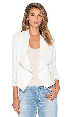 Bobi BLACK Knit Boucle Blazer in White