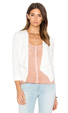 BLACK Sateen Twill Blazer in White