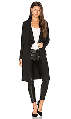 BLACK Trench Coat in Schwarz