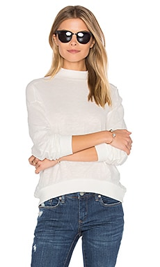 Slub Jersey Crop Sweatshirt in Bone