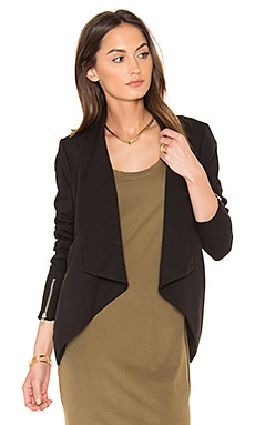 BLACK Boucle Moto Blazer in Black