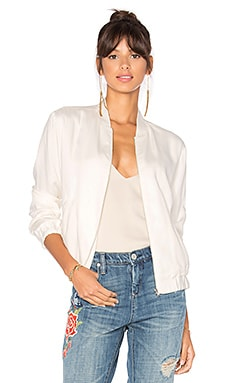 BLACK Bomber Jacket in White