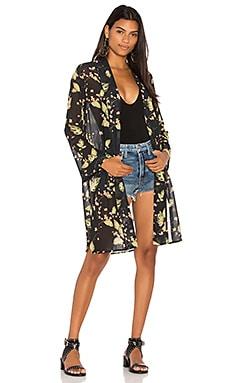 BLACK Chiffon Kimono