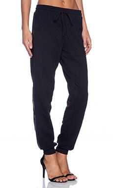 Bobi Cashmere Terry Sweatpant in Black