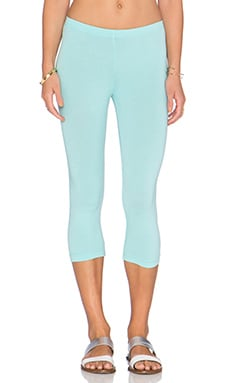Bobi Cotton Lycra Legging in Blu Beach