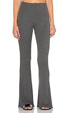 Bobi Cozy Spandex Wide Leg Pant in Thunder