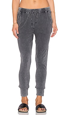 Bobi Washed Down Terry Sweatpant in Storm Cloud