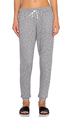 Bobi French Terry Sweatpant in Light Grey