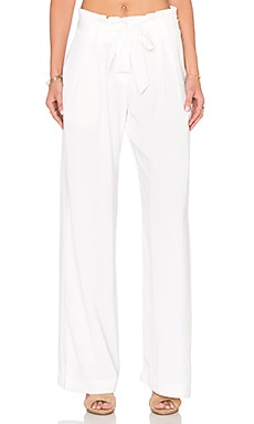 BLACK Georgette Wide Leg Pant in White