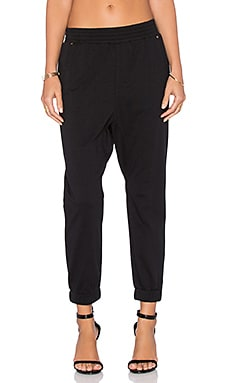 Bobi Lightweight Cashmere Terry Sweatpant in Black