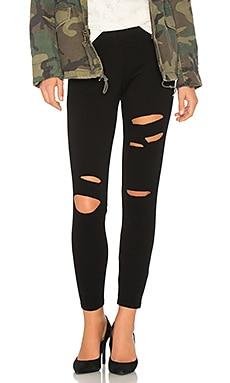 Luxe Slit Leggings In Black. Luxe Fente Jambières En Noir. - Size M (also In S,xs) Bobi - Taille M (également À L'art, Xs) Bobi