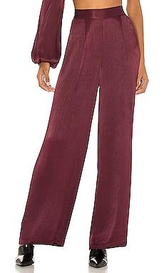 BLACK Sleek Textured Woven Pant Bobi $91