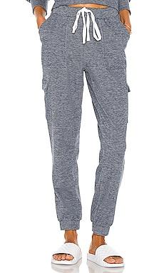 Cozy Heathered Knit Jogger Bobi $84