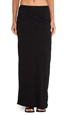 Bobi Light Weight Jersey Maxi Skirt in Black