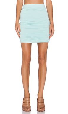 Bobi Modal Jersey MIni Skirt in Bubble Blue