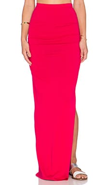 Bobi Modal Jersey Maxi Skirt in Strawberry