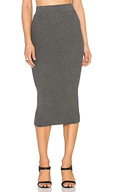Bobi Cozy Spandex Pencil Skirt in Thunder