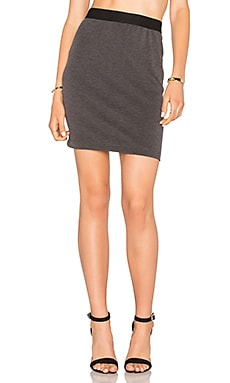 Bobi Stretch Twill Mini Skirt in Charcoal