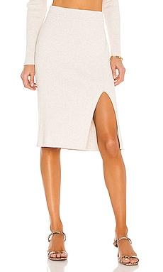 BLACK Fine Cotton Sweater Skirt Bobi $119 BEST SELLER