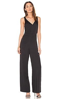 BLACK Cross Back Jumpsuit in Black