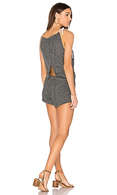 Knit Cross Back Romper en Noir