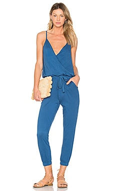 Supreme Jersey Surplice Jumpsuit in Overboard