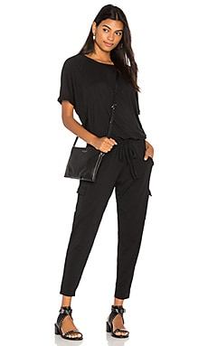 Draped Skinny Jumpsuit Bobi $97