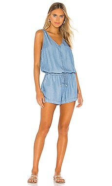 BLACK Chambray Romper Bobi $119