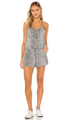 Leopard Slub Romper Bobi $57