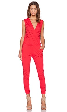 Bobi Supreme Jersey Jumpsuit in Light Raspberry