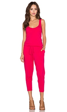 Bobi Supreme Jersey Racerback Jumpsuit in Strawberry