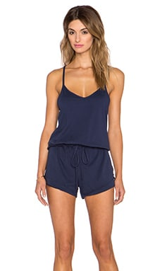 Bobi Supreme Jersey Drawstring Romper in Nautical