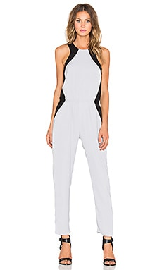 Bobi BLACK Georgette Jumpsuit in Light Grey