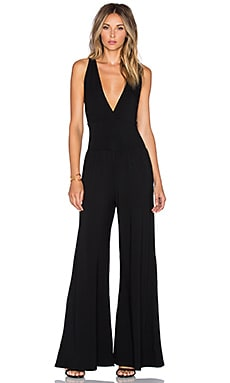 Bobi Jersey Jumpsuit in Black