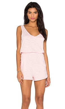 V Neck Sleeveless Romper in Lipgloss