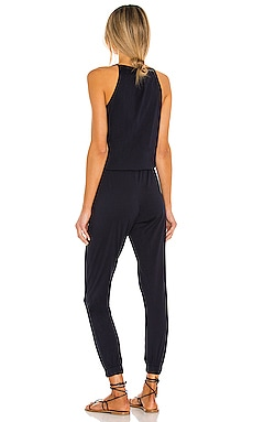 Bobi Supreme Jersey Tied Waist V Neck Jumpsuit Coupon