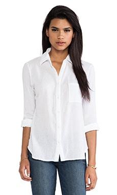 Bobi Collared Button Down Shirt in White
