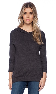 Bobi Peached Jersey Hoodie in Charcoal
