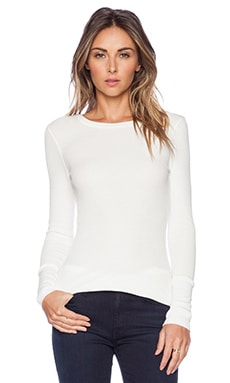 Bobi Modal Thermal Long Sleeve Tee in Light