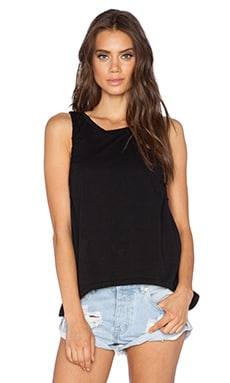 Bobi Pima Cotton Tank in Black