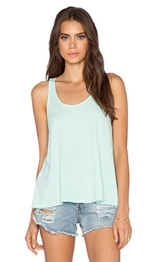 Bobi Slub Jersey Racerback Tank in Bubble Blue