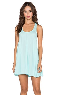 Bobi Light Weight Jersey Tank Dress in Blu Beach