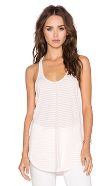 Bobi Skinny Tonal Stripe Tank in Angel Pink