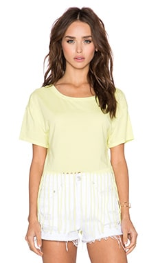 Bobi Pima Cotton Fringe Tee in Mojito
