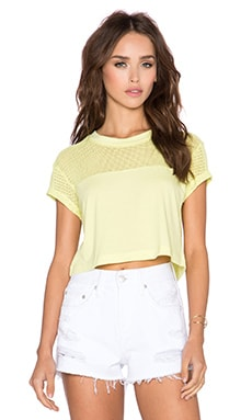 Bobi Pima Netting Crop Top in Mojito